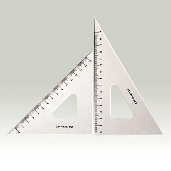 目盛付面取三角定規 15cm型 2枚1組 厚 ...