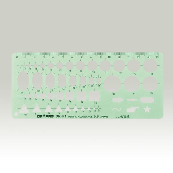 ランドアート drテンプレート p 1g コンビ定規 測量用品 計測用品の